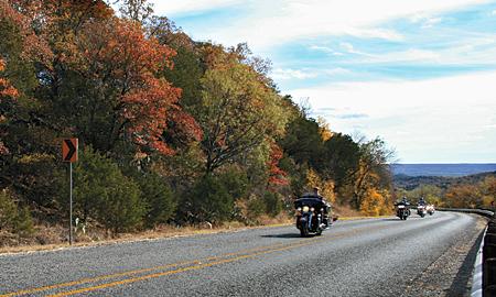 FM 4 is a fun bit of asphalt for all seasons. Photograph by William M. Hendryx.