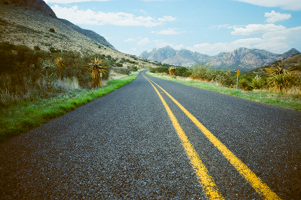 TX 118 is a twisty black ribbon from Kent, to its southern terminus at Big Bend National Park. (Photo by Valerie Asensio)