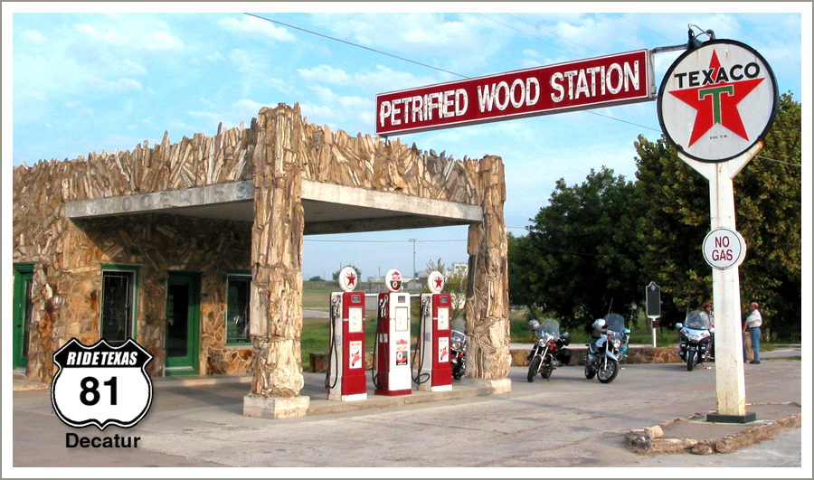 Petrified Wood Station in Decatur, Texas. Photograph by Tom Wiley.