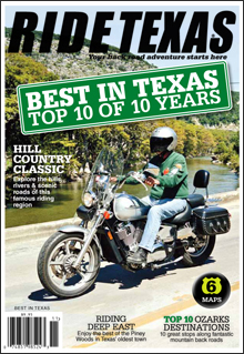 The final RIDE TEXAS® BEST IN TEXAS Readers' Choice Awards was published in 2011. It summarizes the Top 10 lists of all the previous polls to arrive at the best of the bests.