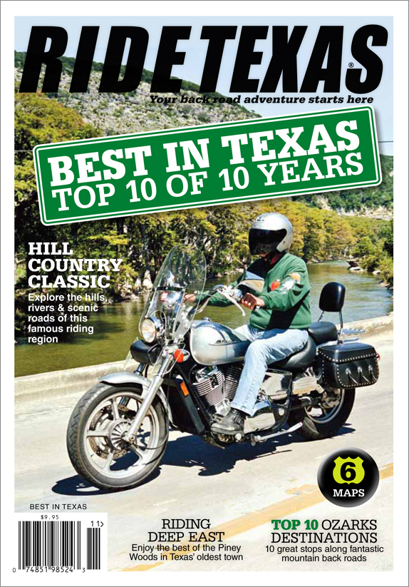 The Best of the Best of 10 years of our Readers' Choice Awards.  The  Top 10s  for roads, eats, destinations and much more from the results of the previous nine years of readers' BEST IN TEXAS. This is the final edition of our BEST IN TEXAS series.