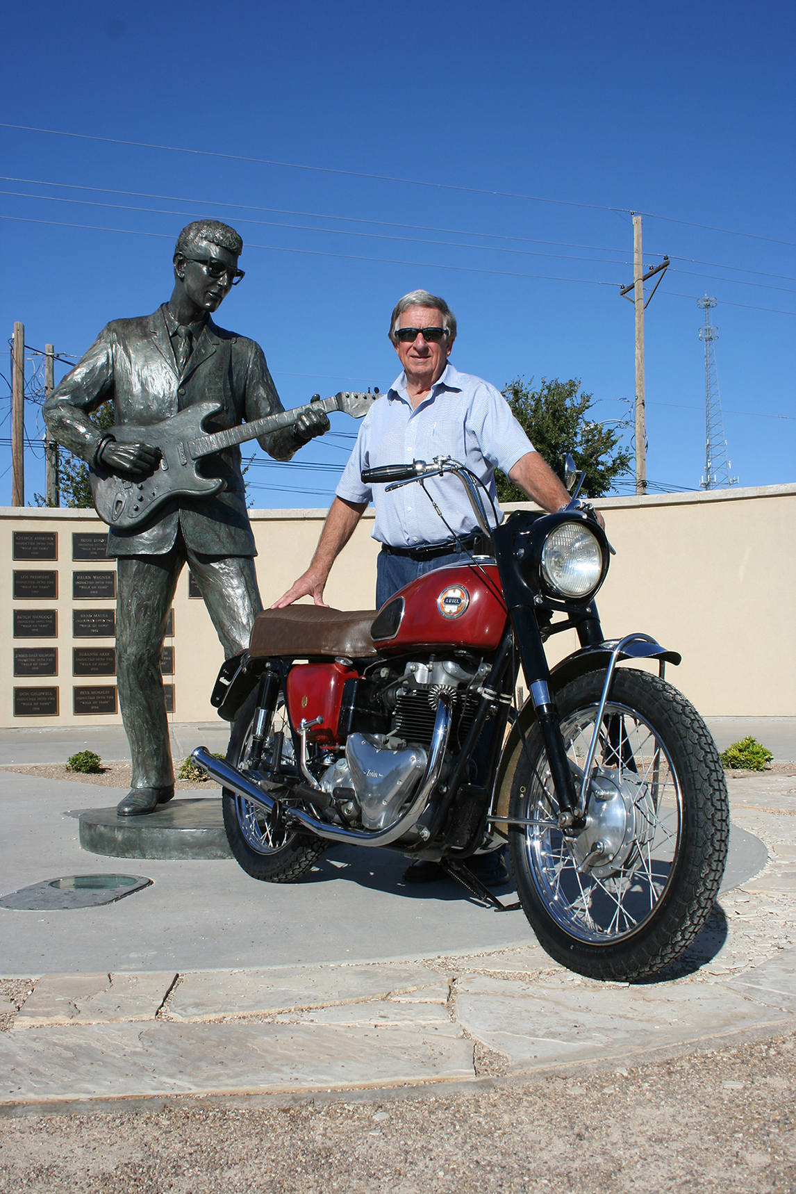 buddy holly the legend and lore of lubbock s native son ride buddy george and the ariel lubbock s george mcmahan waited more than five decades to bring buddy holly s iconic ariel cyclone home to lubbock