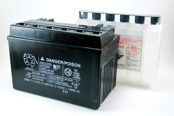 "Figure 1 A ""Flooded cell"" lead-acid battery requires regular maintenance to keep it"