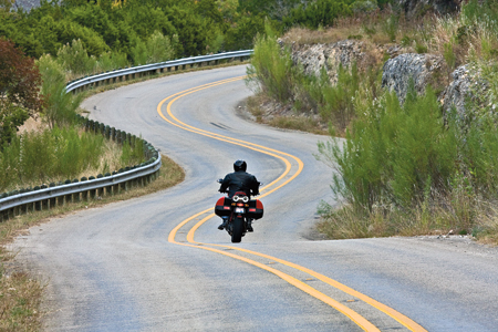 FM 337 in the Texas Hill Country is most famous for this sort of  fun. (by Wayne D. Roth)